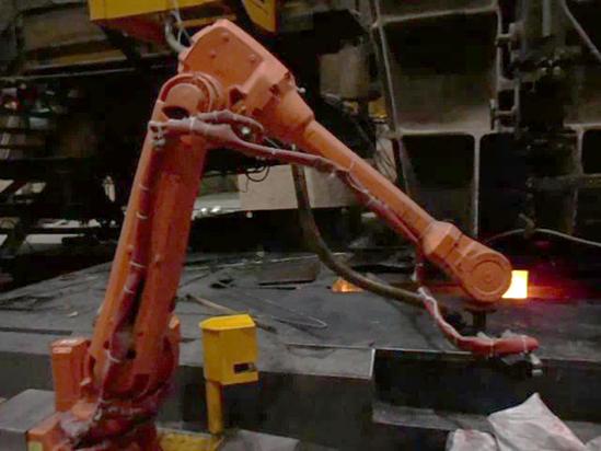 机器人自动加渣系统